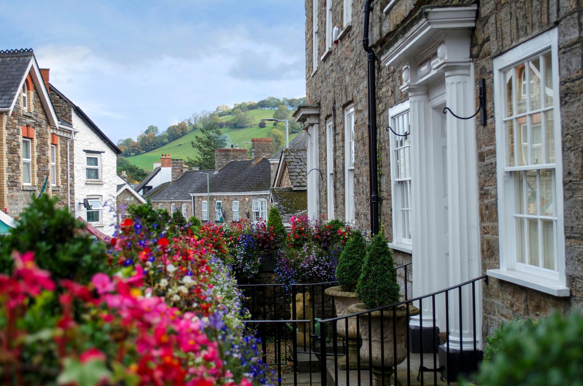 Bampton village in bloom