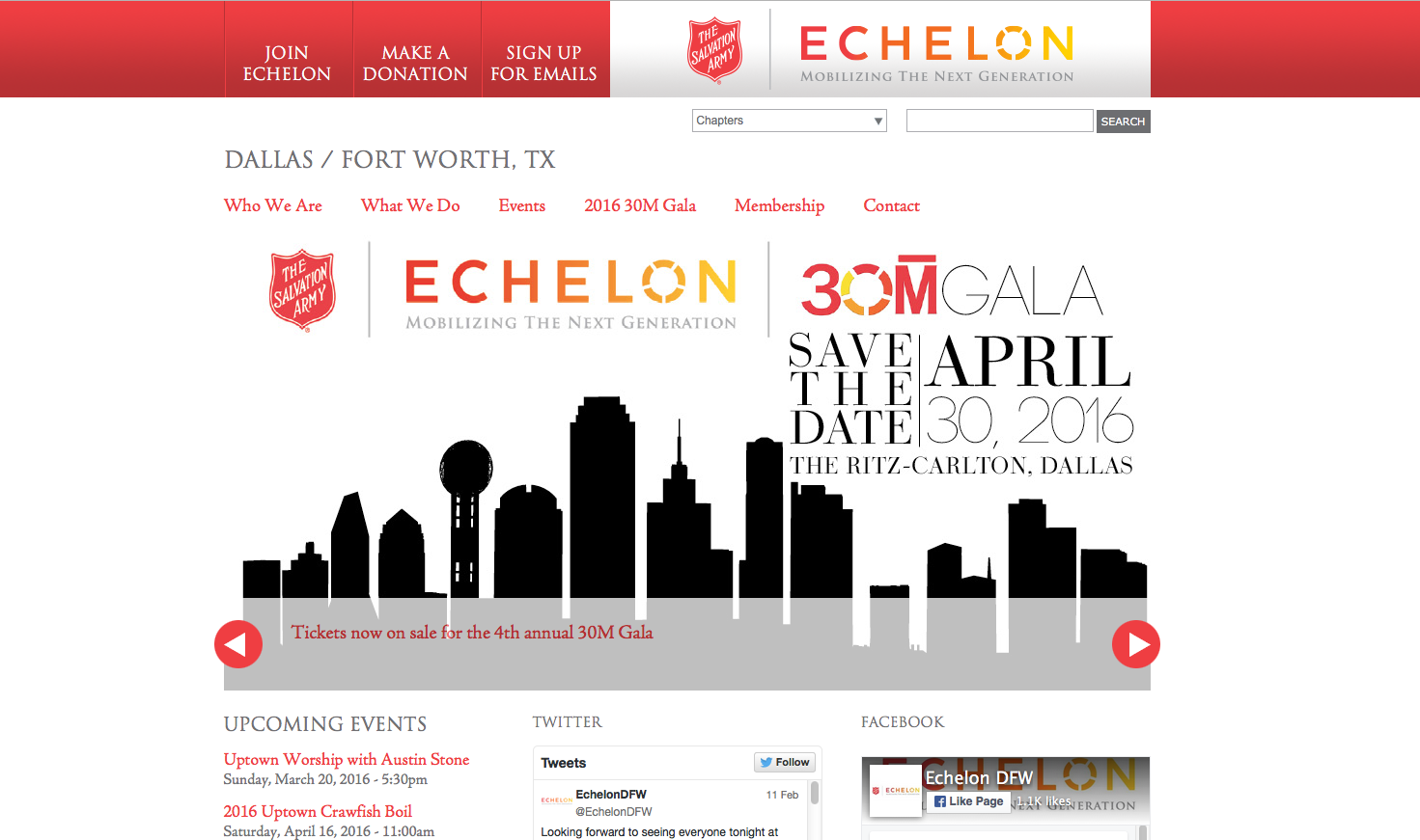 Salvation Army Echelon Dallas Fort Worth