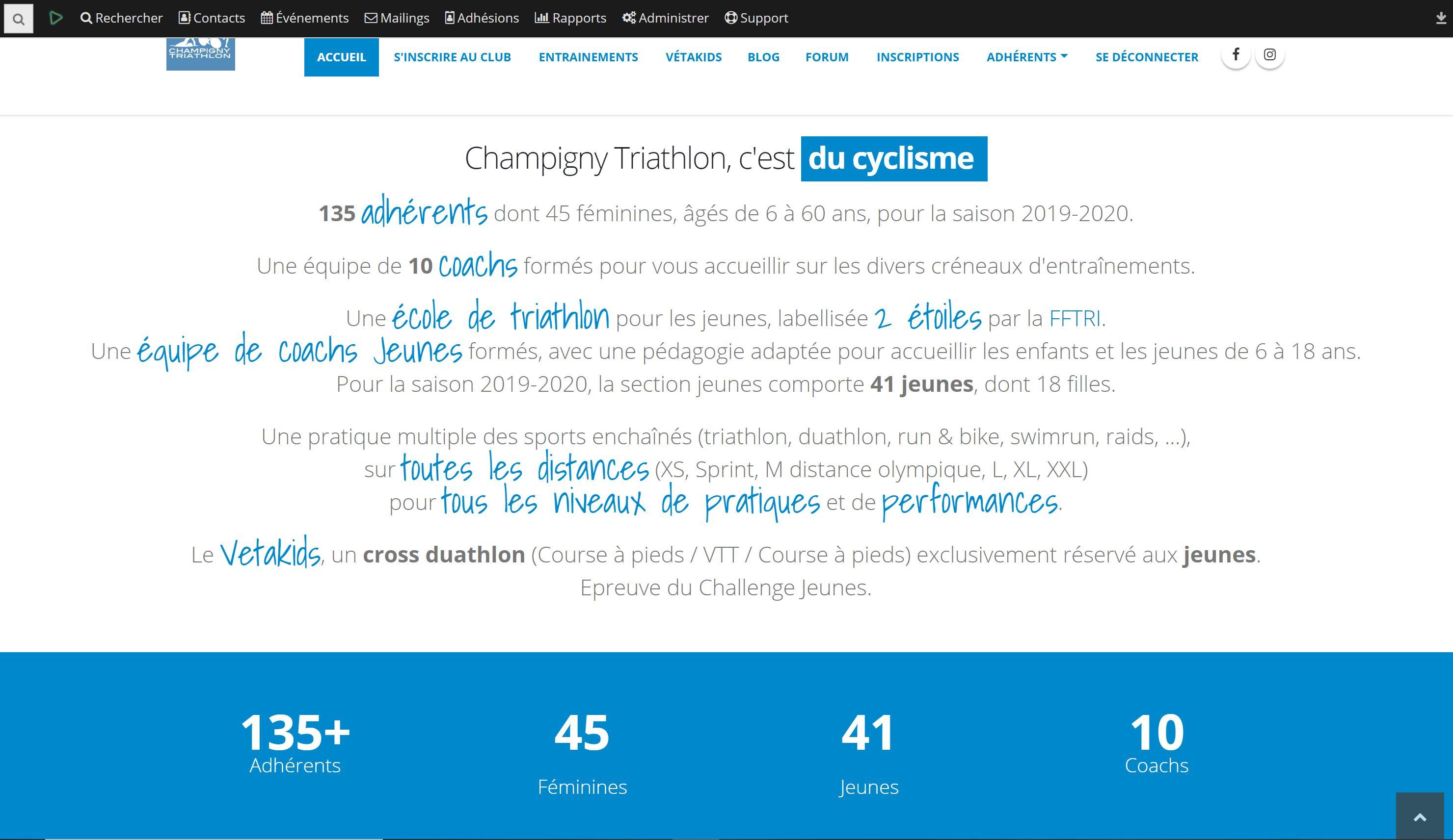 Page principale - champignytriathlon.fr